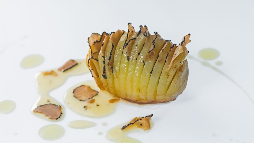 Image of OVEN ROASTED POTATOES WITH CHOPPED BLACK TRUFFLES