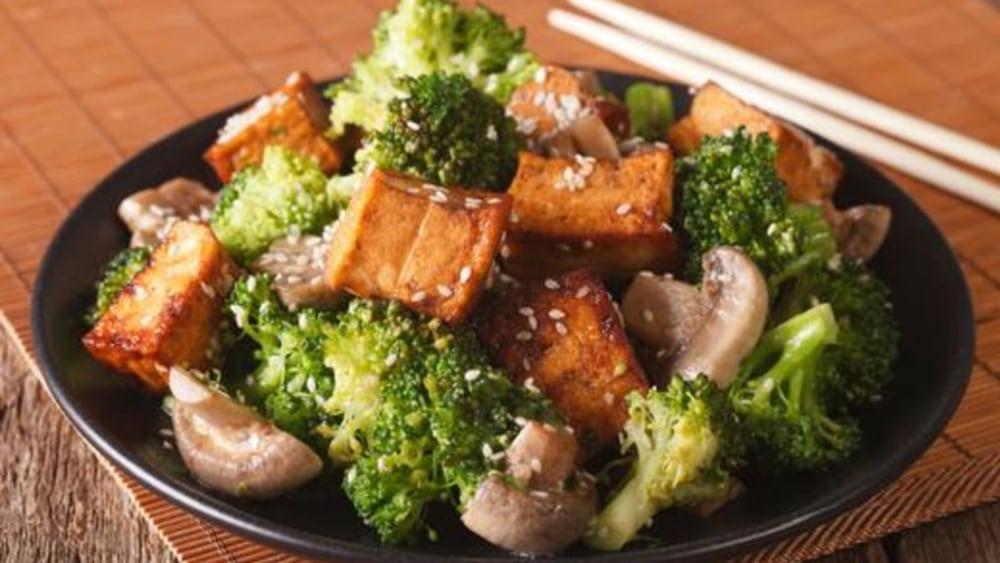 Image of Korean Tofu with Pan-Fried Gochujang Chili