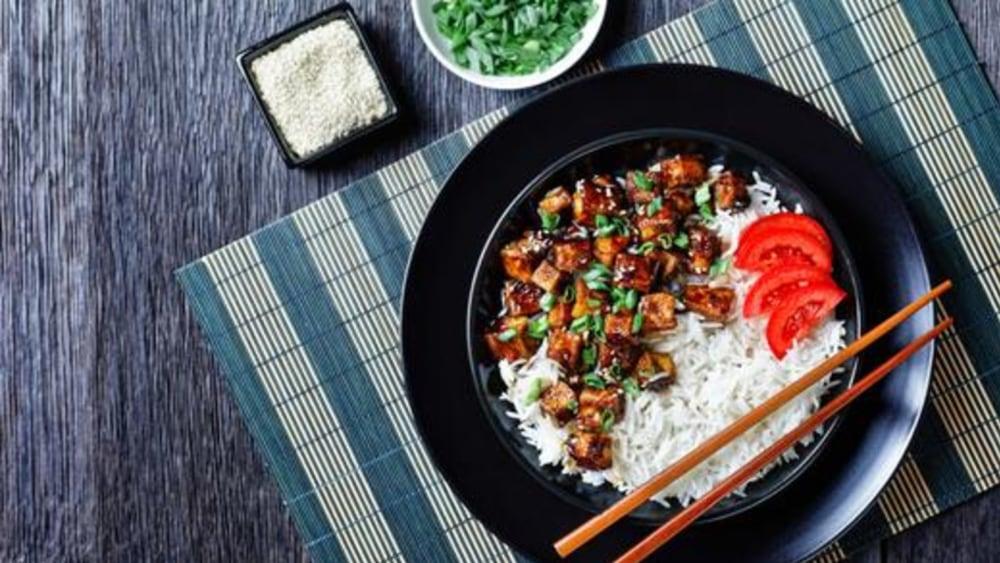 Image of Miso Tofu with Fresh Garlic and Tamari