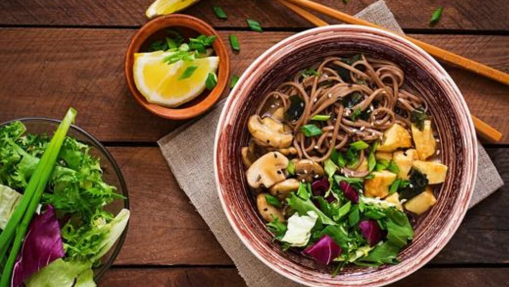 Image of Soba Noodle Bowl: A Quick and Healthy Soba Noodle Recipe with Sriracha Tofu