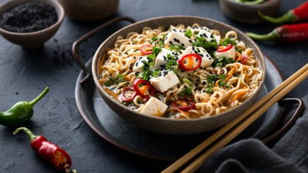 Image of Spicy Ramen Noodles with Tofu
