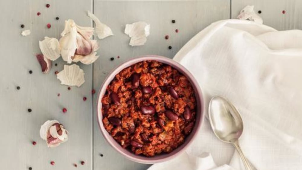 Image of Tofu Chili: A Spicy, Fiery, Meat-free, Vegan Recipe