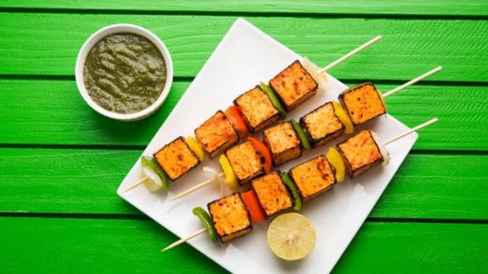 Image of Tofu Kebobs: Smoky Vegan BBQ Skewers