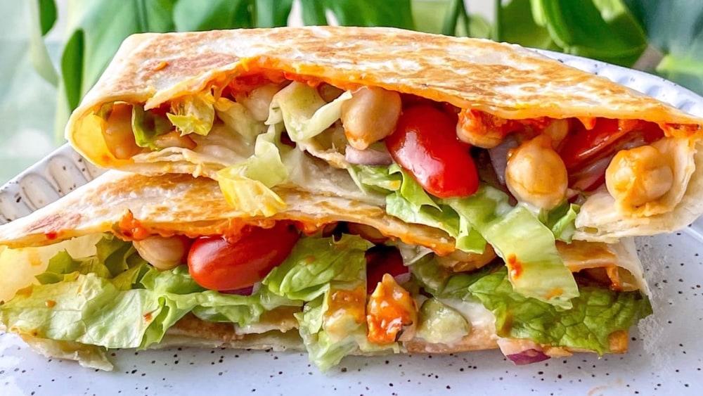 Image of Vegan Greek Inspired Crunch Wrap