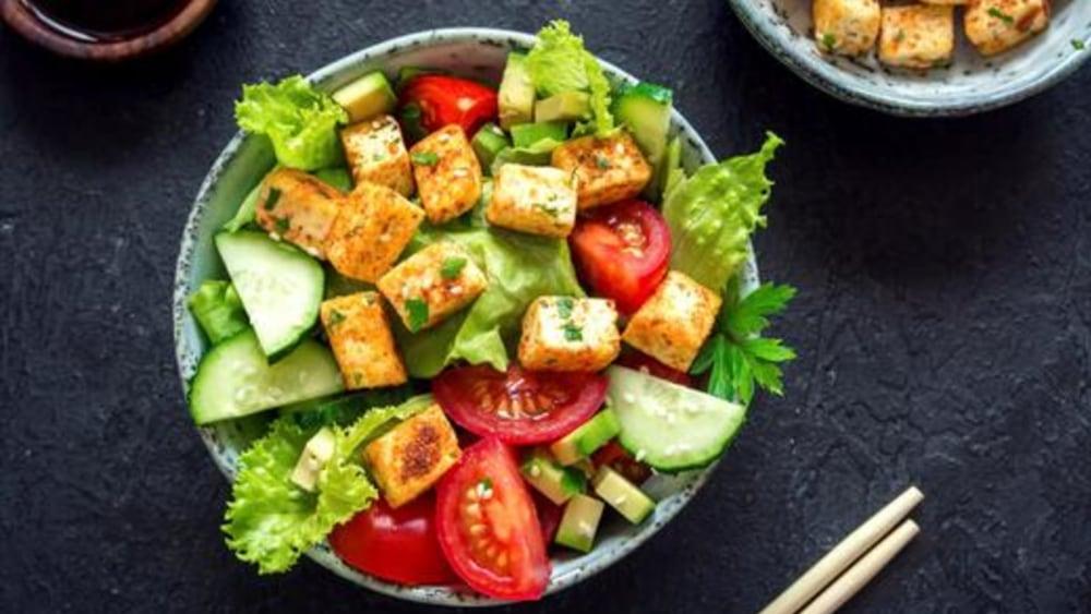 Image of Tofu Salad: Spicy Asian Salad