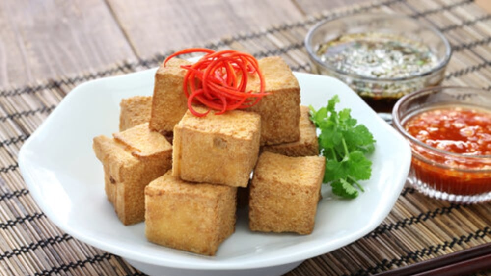 Image of Coconut Crusted Tofu Recipe with Sweet Chili Dipping Sauce