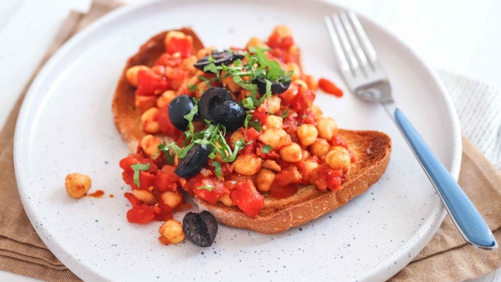 Image of Greek-Style Chickpeas on Toast