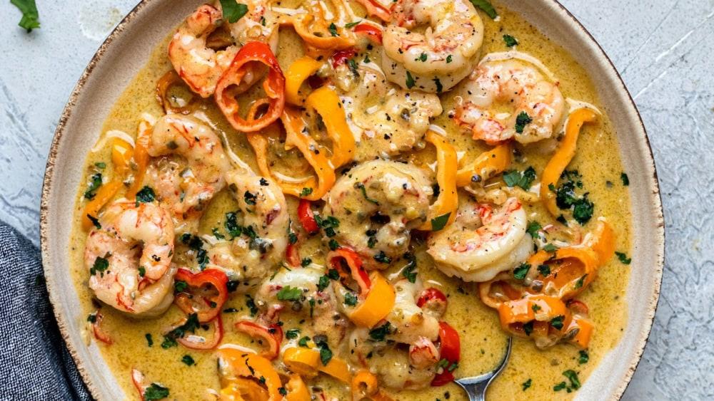 Image ofGreen Chili Thai Style Shrimp
