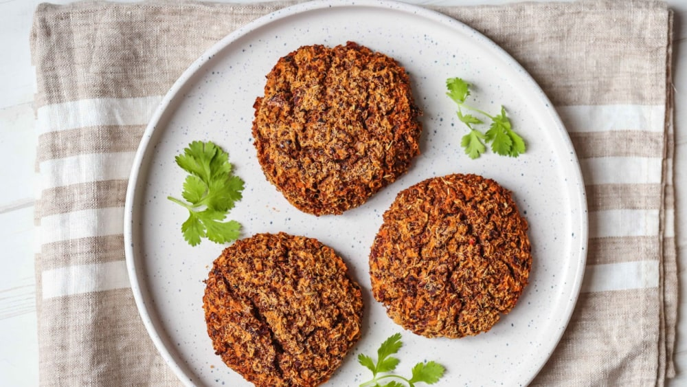 Image of Sweet Potato, Quinoa & Bean Burger