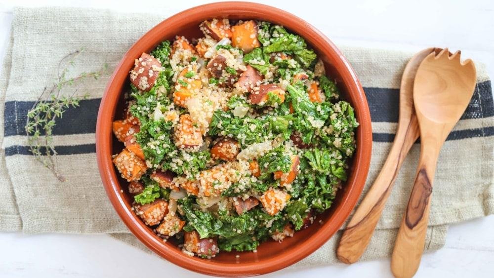 Image of Roasted Sweet Potato, Kale & Quinoa Salad