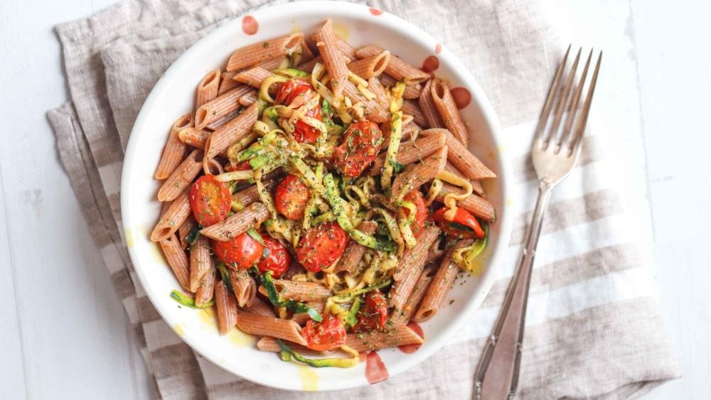 Image of Garlic Zucchini & Tomato Pasta