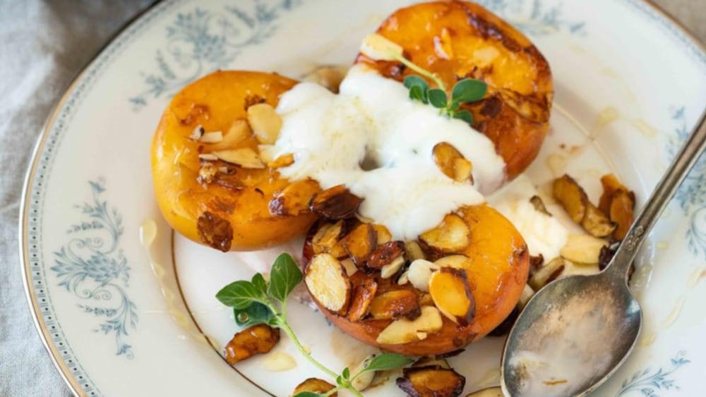 Image of Seared Peaches with Greek Yogurt
