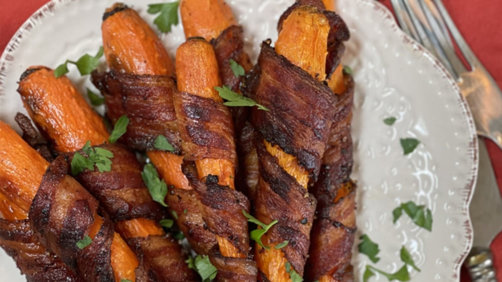 Image of Bacon Wrapped Carrots
