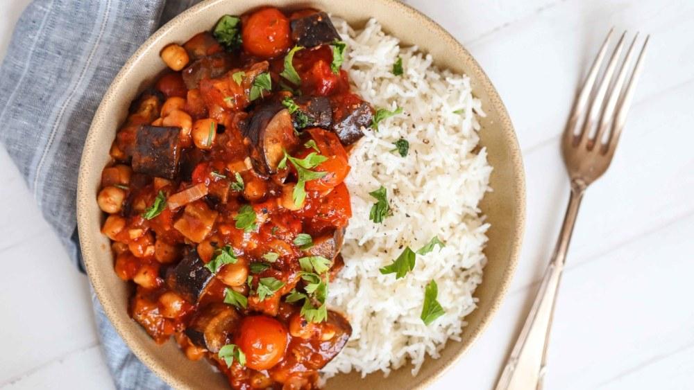 Image of Roasted Aubergine & Tomato Stew
