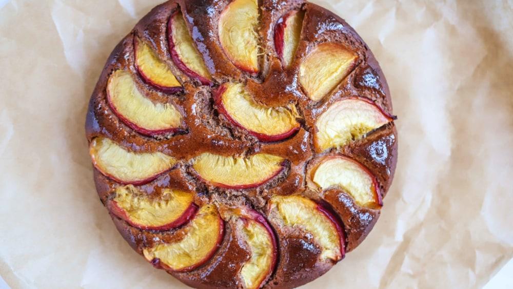 Image of Almond & Peach Cake