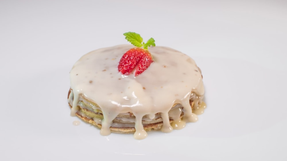 Image of Pancakes with white choco Truffle cream