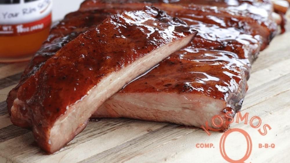 Image of Smoked St Louis Ribs Recipe (Best Rib Glaze Test!)