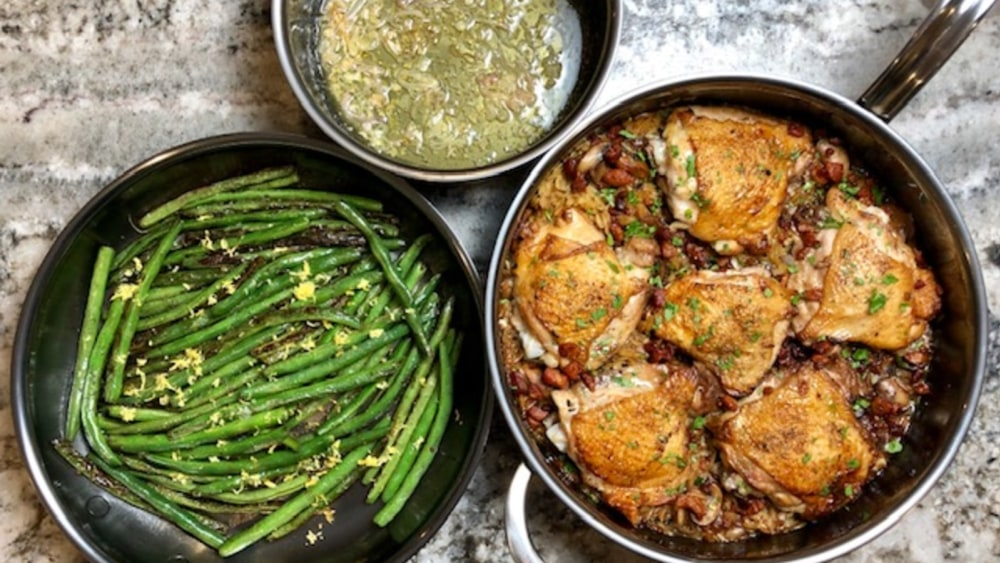 Image of Skillet Chicken Marsala and Orzo