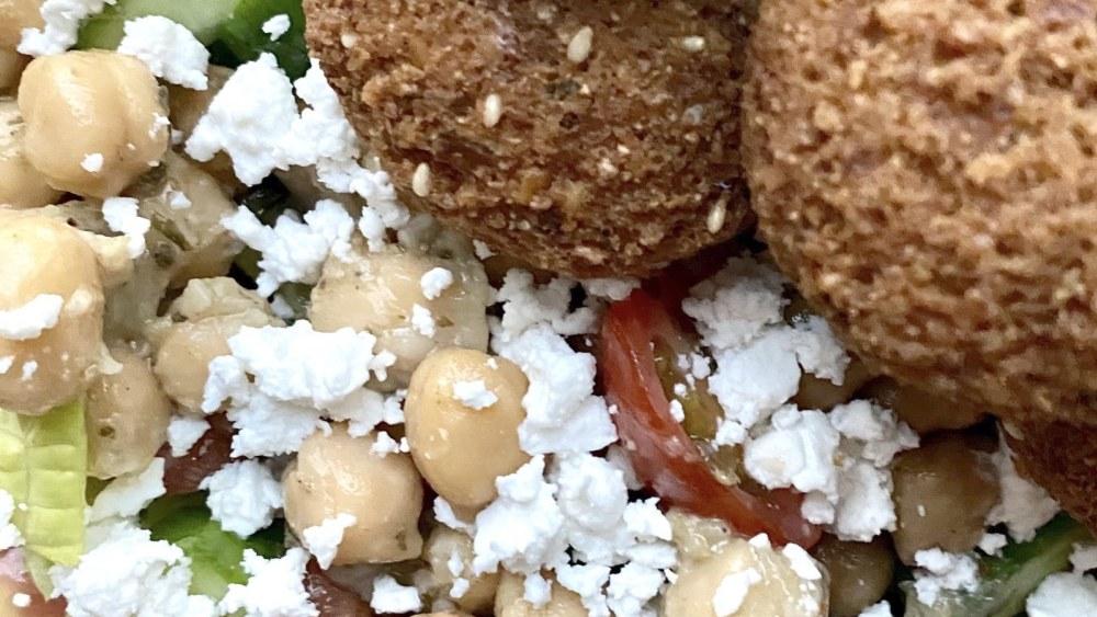 Image ofFalafel Salad with Creamy Garlic Tahini