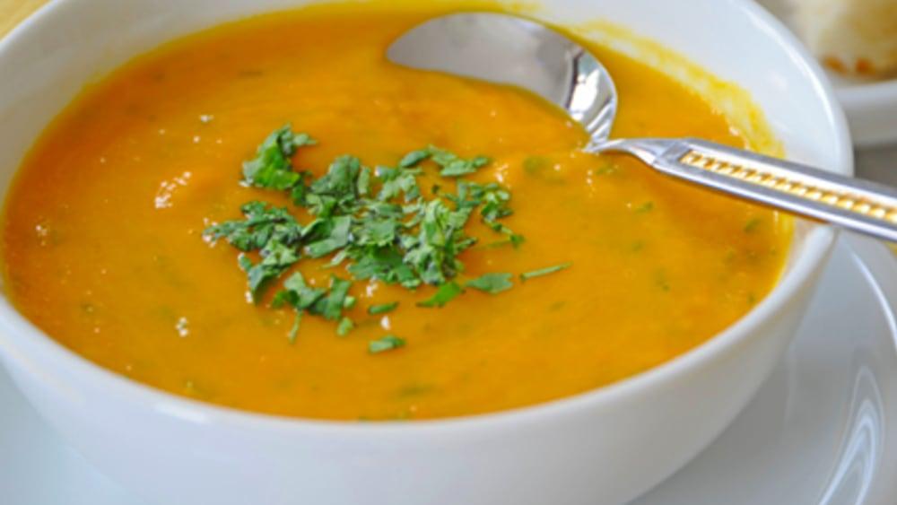 Image ofCarrot Leek Swede & Garlic Soup