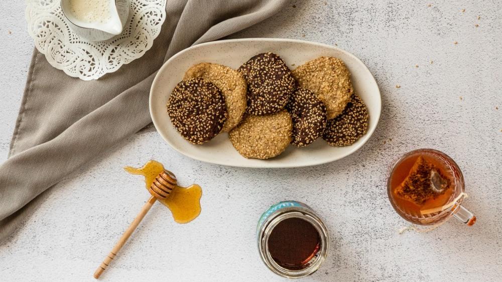 Image of Biscuits au tahini et sésame