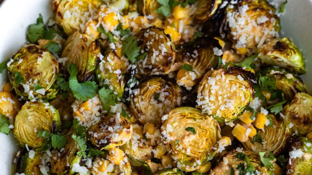 Image of Street Corn Brussels Sprouts