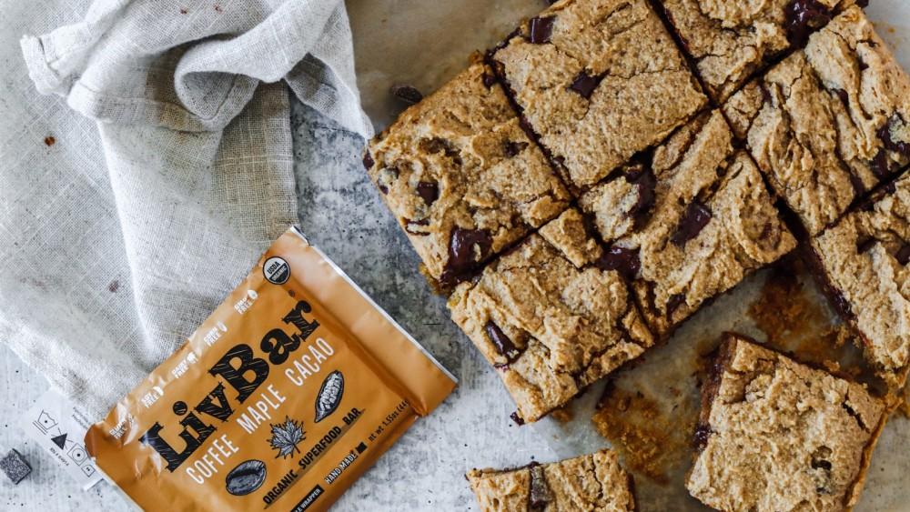 Image of Gluten Free Tahini Chocolate Chip Blondies