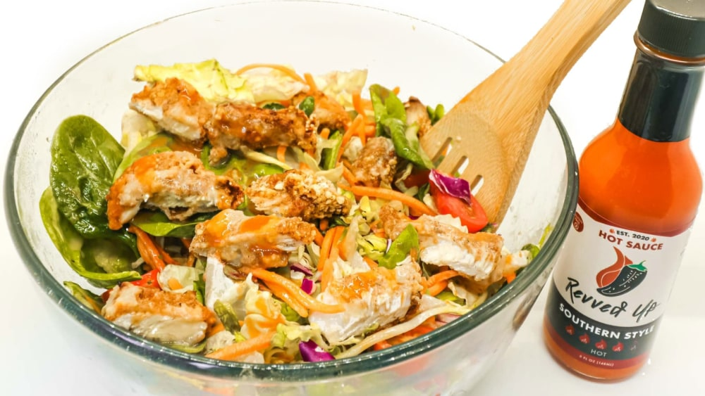 Image of Revved Up Air Fried Southern Style Chicken Tender Salad
