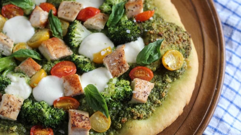 Image of Arugula Pesto Chicken Pizza