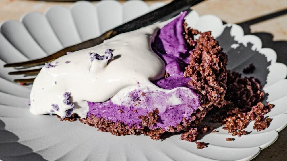 Image of Easy No Bake Ube Pie