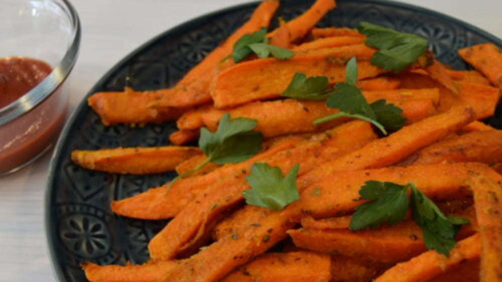 Image of Sweet Potato Fries With Tahini Dipping Sauce