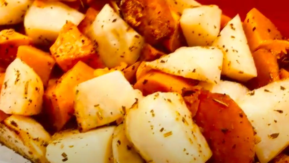 Image ofCrunchy Roasted Pumpkin, Potatoes and Sweet Potato