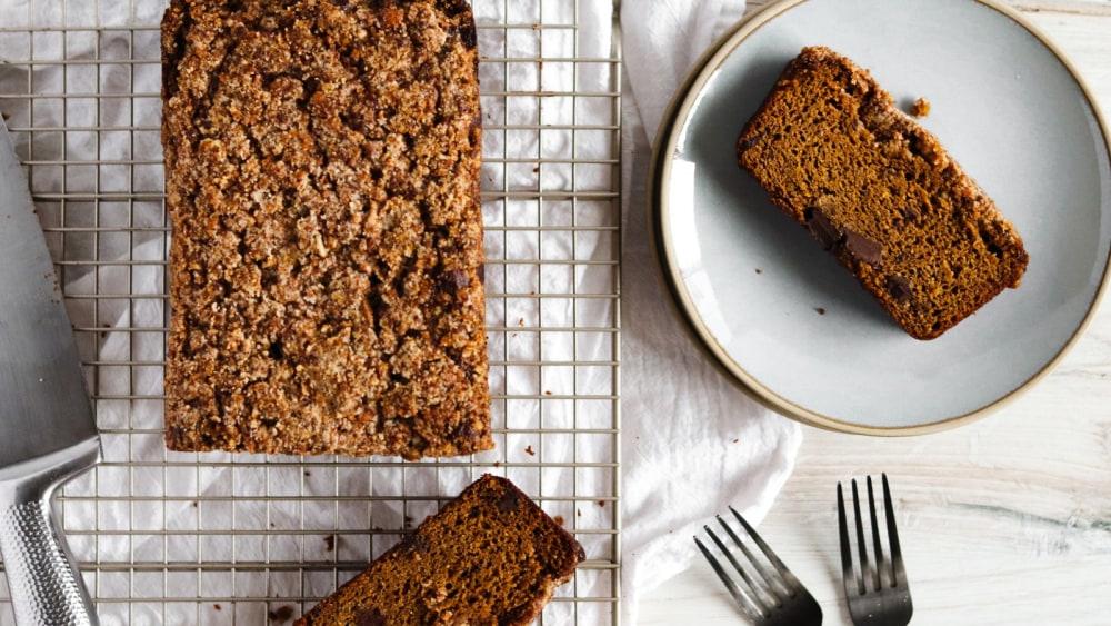 Image of The Best Gluten Free Chocolate Chip Pumpkin Bread