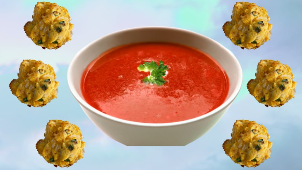 Image of Tomato Soup with Cheddar Garlic Biscuits