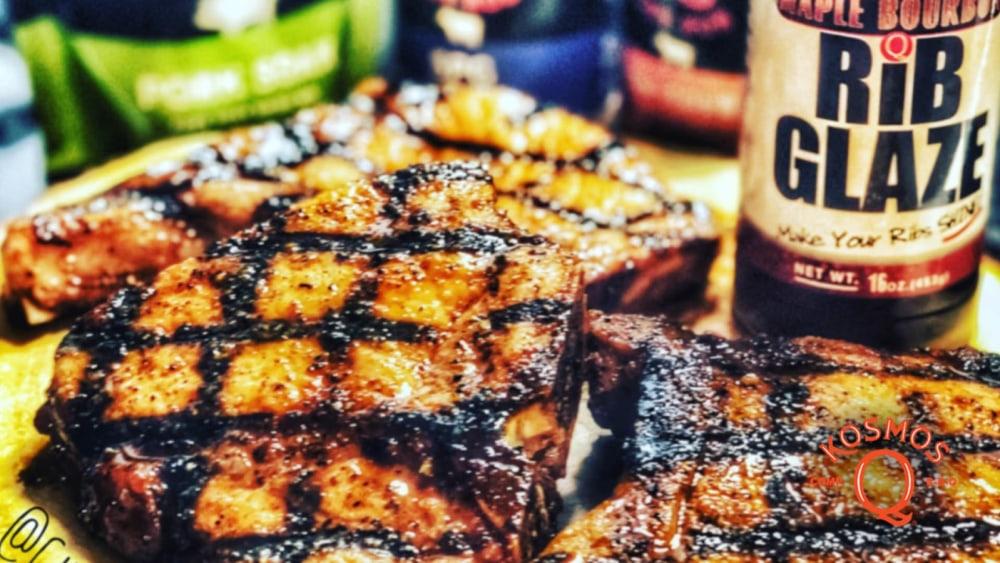 Image of Maple Bourbon Glazed Pork Chops