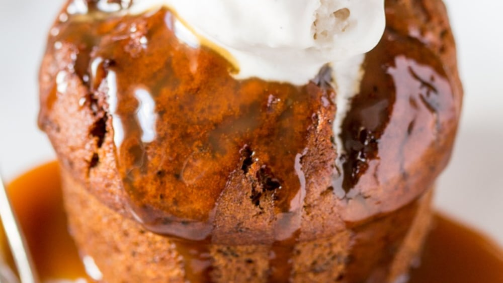 Image of STICKY DATE PUDDING WITH BUTTERSCOTCH SAUCE