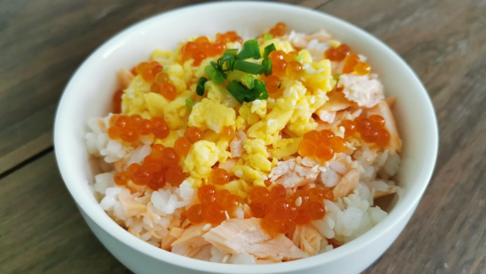 Image of Deconstructed Salmon Ikura Sushi