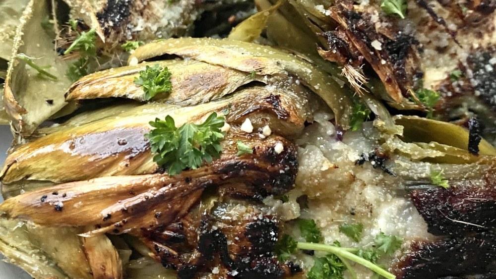 Image ofParmesan Garlic Grilled Artichokes