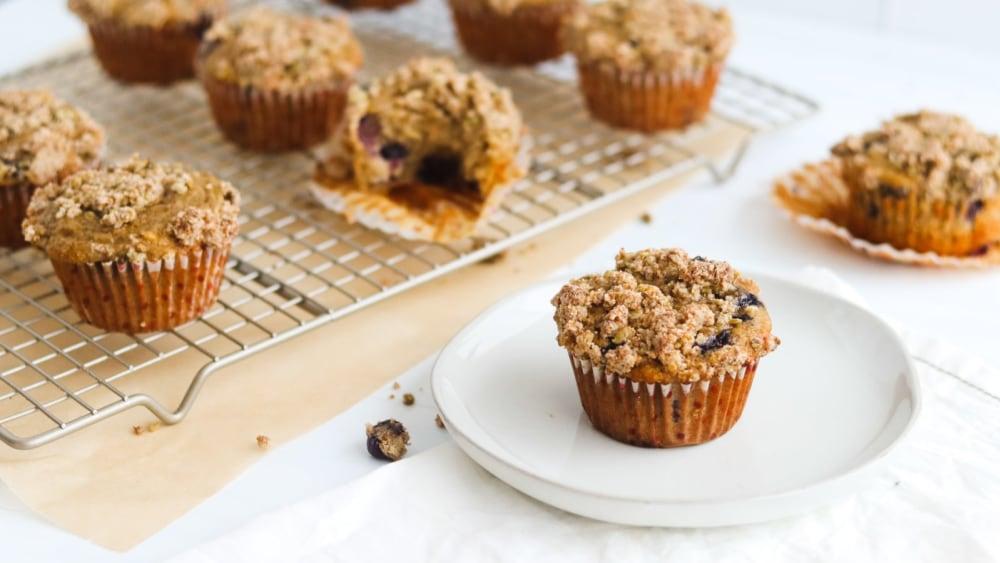 Image of Gluten Free Blueberry Banana Muffins