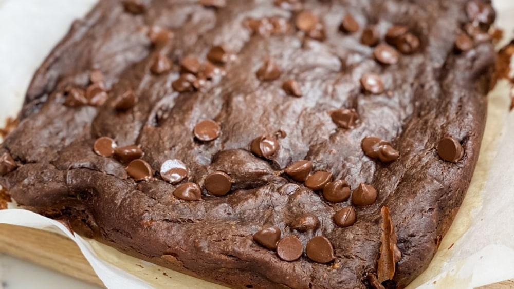 Image of Gooey Chocolate PB Banana Brownies