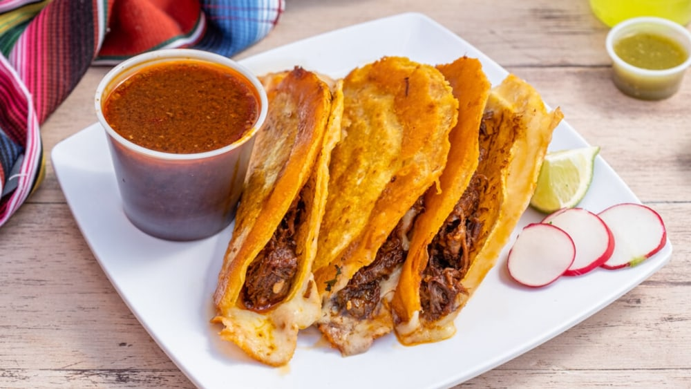 Image of Birria Tacos Recipe With Tender Stewed Beef And Spicy Guajillo Peppers
