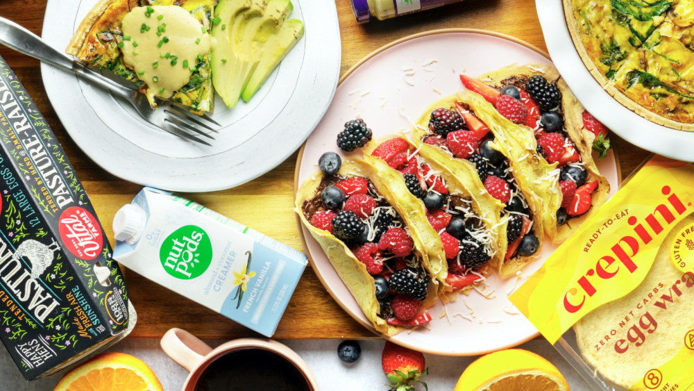 Image of Eggs Benedict Quiche with Hollandaise Sauce