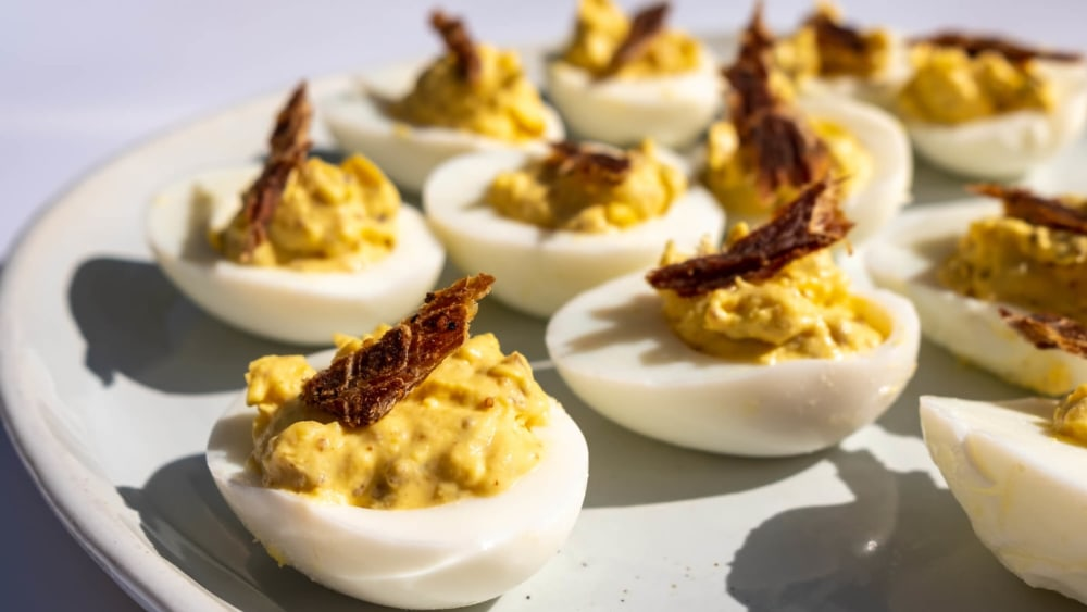 Image of Machaca Deviled Eggs