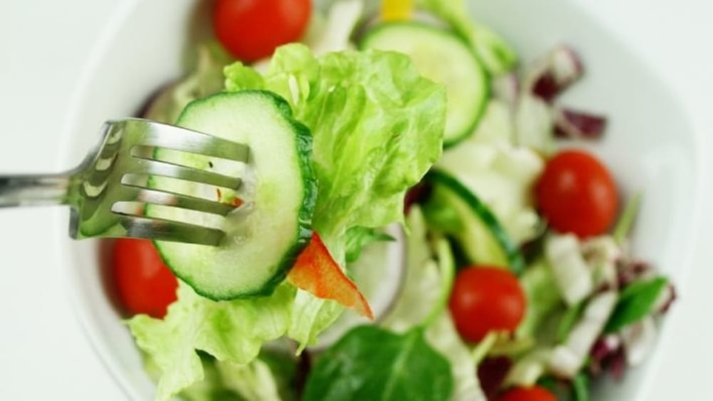 Image of Green Salad with Holy Basil and Fresh Veggies