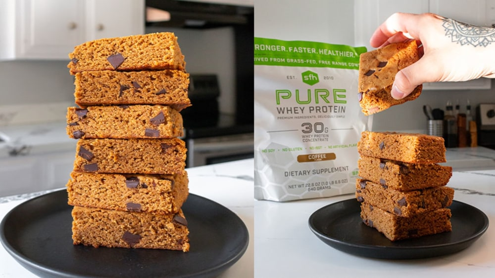 Image of Decadent Coffee-Chip Blondies with SFH Pure Whey Protein!