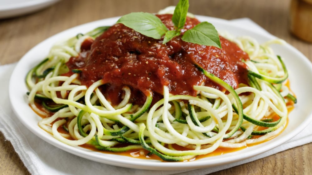 Image of ONE PAN ZUCCHINI SPAGHETTI WITH BOLOGNAISE