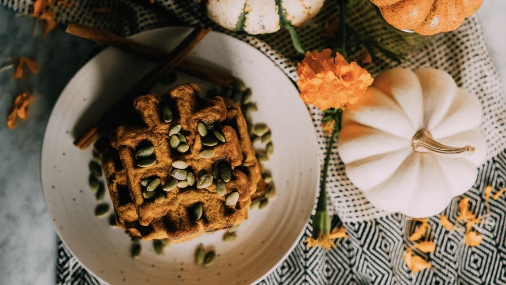 Image of Paleo Pumpkin Bone Broth Waffles