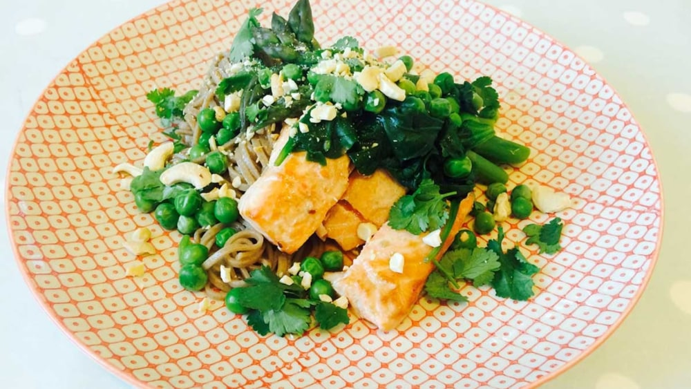 Image of Salmon and Soba Noodles