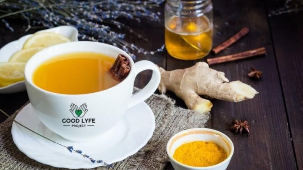 Image of Energizing Turmeric-Tulsi-Ginger Golden Tea