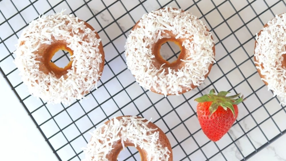 Image of Low Carb Strawberry Coconut Donut